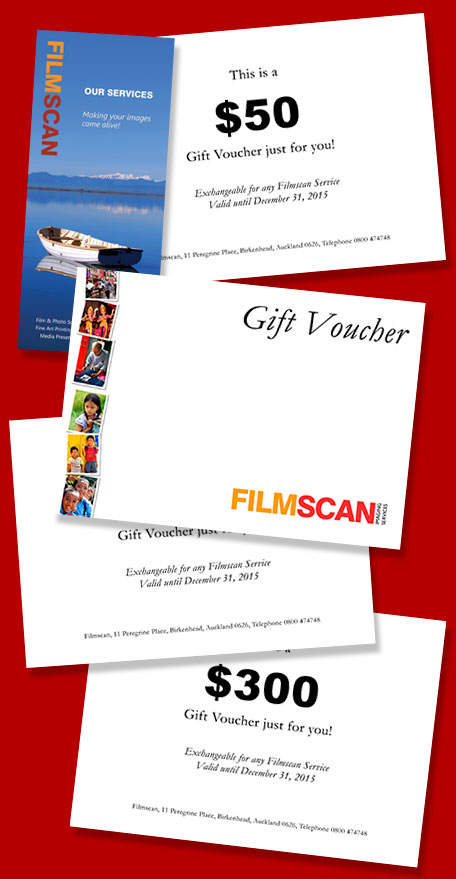 Filmscan Gift Vouchers - the ideal gift